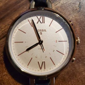 Fossil Hybrid Smartwatch Rose Gold Stainless/Navy